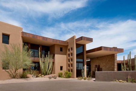 façade entrée - Sefcovic Residence par Tate Studio Architects - Usa