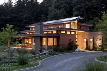 façade entrée - Skyline Residence par Nathan Good Architects - Portland, Usa