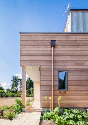 façade entrée - Stackyard House par Mole Architects - Palgrave, Royaume-Uni