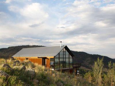 façade entrée - Sunshine Canyon House par Renée del Gaudio Architecture - Boulder, Usa