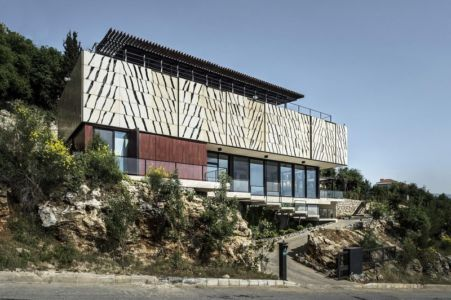 façade entrée - Tahan Villa par BLANKPAGE Architects - Kfour, Liban
