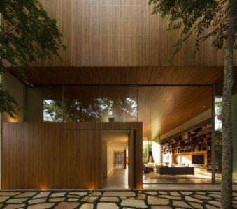 façade entrée - Tetris House par Studio mk27 - São Paulo, Brésil
