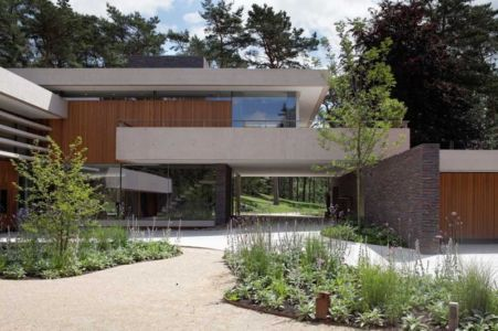 façade entrée - The Dune Villa par HILBERINKBOSCH Architects - Utrecht, Pays-Bas
