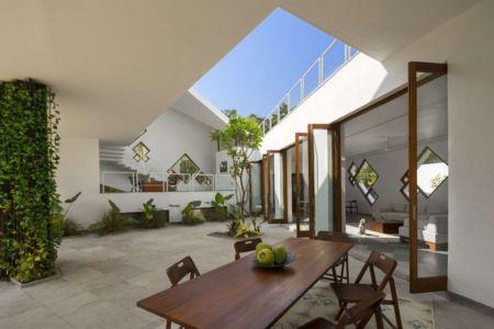 façade entrée - Tomoe Villas par Note Design - ALibag, Inde