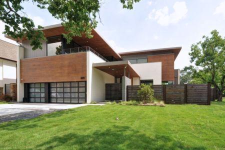 façade entrée - Underwood House par StudioMET - Houston, Usa