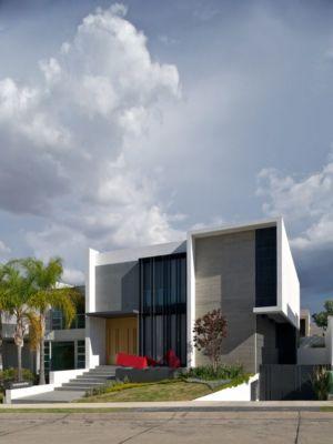 façade entrée - V-House par Agraz Arquitectos - Puerta Plata, Mexique