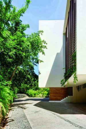 façade entrée - Villas Finestre par CC ARQUITECTOS - Mexique - Photo Rafael Gamo & Yoshihiro Koitani