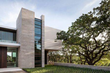 façade entrée - Vineyards-Residence par Swatt Miers Architects - Californie, USA