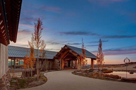 façade entrée - Wolf Creek Ranch par S+D Architects - Utah, Usa