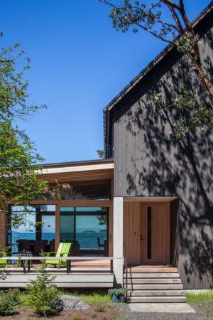 façade entrée - bunny-lane par Heliotrope-Architects - Washington, USA