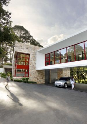 façade entrée - chinkara house par Soliscolomer y asociados - guatemala