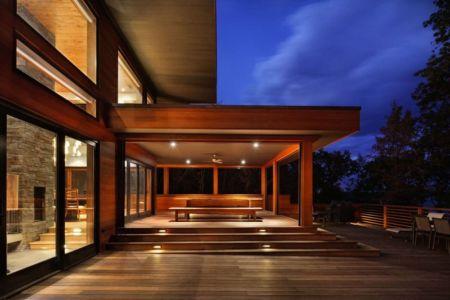 façade entrée de nuit - RiverBanks par Foz Design - Saugerties, Usa