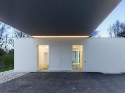 façade entrée - during-tannay par Christian Von During Architects - Tannay, Suisse