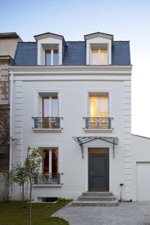 façade entrée extension - maison - Atelier Zundel Cristea- Photo Sergio Grazia - France
