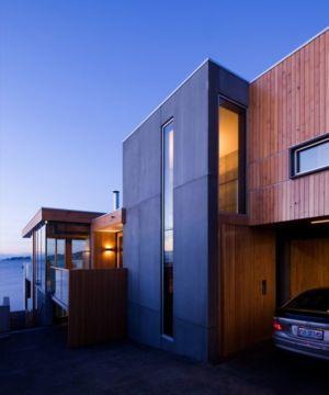 façade entrée garage - Home Overhanging par MGArchitects - Tasmanie, Australie