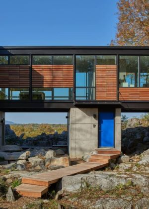 façade entrée - hawks nest par wiedemann architects - Usa