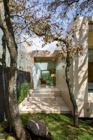 façade entrée & jardin - Club-Residence par Migdal Arquitectos - Mexico, Mexique