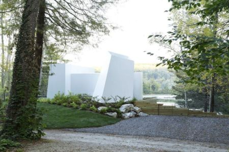 façade entrée - lake house par Taylor and Miller Architecture and Design - Usa
