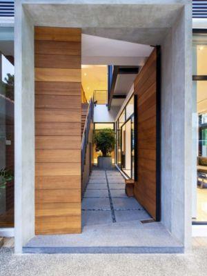 façade entrée - maison exclusive par Aamer Architects - Singapour