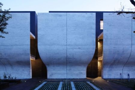 façade entrée - maison-urbaine par Artechnic - Japon