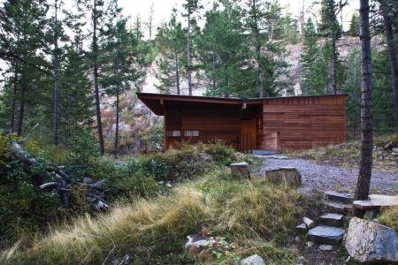 façade entrée principale - Cabin-Flathead-Lake par Anderson Wise Architects - Montana, USA