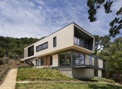 façade entrée - résidence d'été par Shands Studio Architects - San Anselmo, Usa