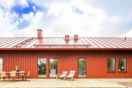 façade entrée & salon terrasse - villa-vallmo par Thomas Sandell - Skaraborg, Suède