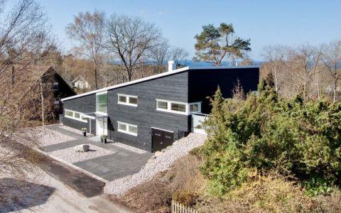 façade entrée - villa Skipas par Tengbom - Halmstad, Suède