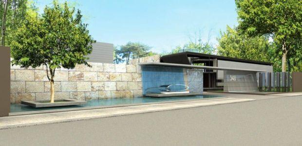 façade entrée - villa afro-européenne par Saota - Genève, Suisse