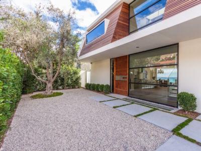 façade entrée - villa contemporaine à Malibu, Usa