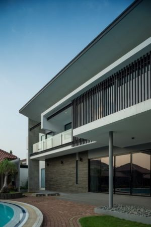 façade terrasse - d-s-house par DP+HS architects - jakarta, Indonesie