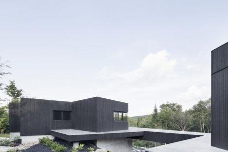façade espace bois - La-Heronniere par Alain Carle Architecte - Québec, Canada