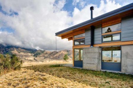 façade est - Nahahum Canyon House par Balance Associates - Nahahum Canyon, Usa