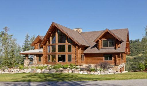 façade extérieure - chalet contemporain Thunderhead, Colorado, Usa