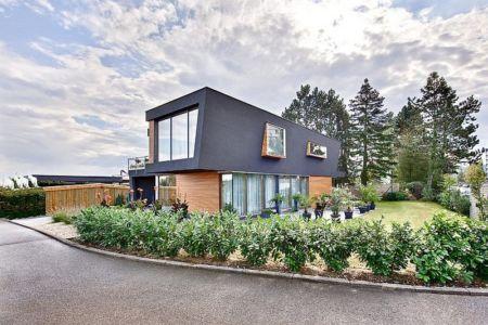 façade extérieure entrée - House W par Studio Prototype - Duiven, Pays-Bas
