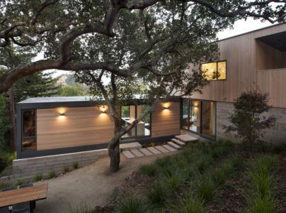 façade extension de nuit - résidence d'été par Shands Studio Architects - San Anselmo, Usa