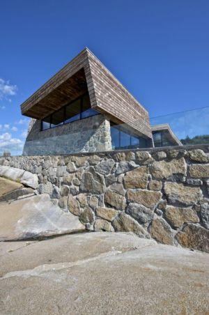 façade fondation rocheuse - Summer-House par JVA - Vestfold, Norvège