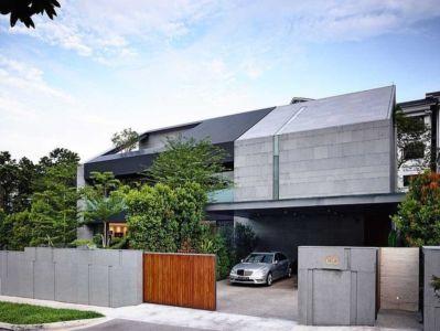façade garage - 66mrn house par Ong&Ong - Singapour