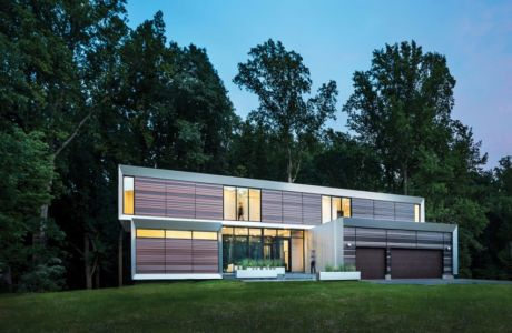 façade garage - Bridge House par Höweler + Yoon Architecture - McLean, Usa