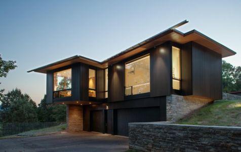 façade garage - Piedmont Residence par Carlton Architecture - Asheville, Usa