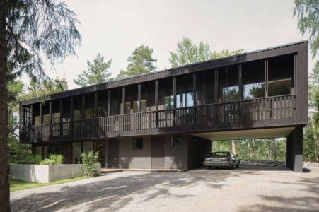 façade garage - Torsby III par Max Holst Arkitekt - Stockholm, Suède