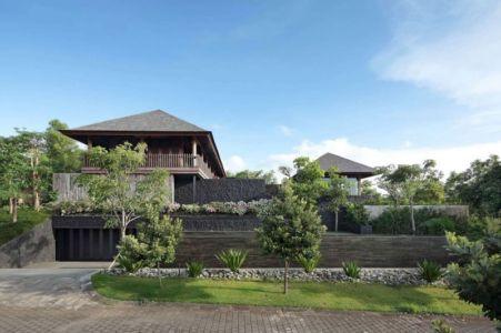 façade garage - Villa Pecatu par Wahana Cipta Selaras - Pecatu, Indonésie