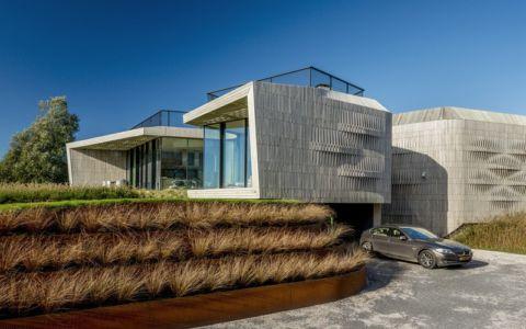 façade garage - W.I.N.D House par UNStudio - Pays-Bas