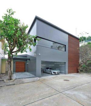 façade garage et entrée - construction écologique par Millimeter Interior Design Limited - Hong Kong