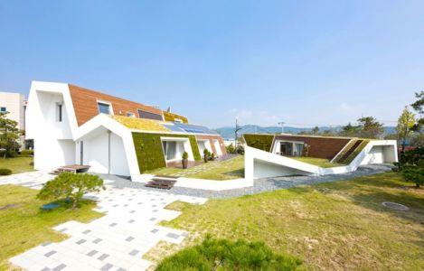 façade intérieure - E-Green Home par Unsangdong - Jeondae-ri, Corée du Sud