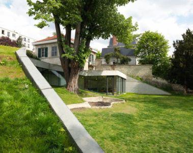 façade intérieure - Maison PLJ par Hertweck Devernois Architectes Urbanistes, France - photo Siméon Levaillant