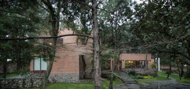 façade intérieure - Pinar house par MO+G Taller de arquitectura - Zapopan, Mexique