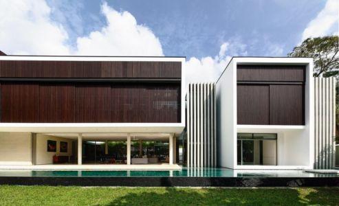 façade jardin - 59BTP House par ONG&ONG - Singapour