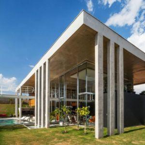 façade jardin - Botucatu-House par FGMF Arquitetos - Botucatu, Brésil