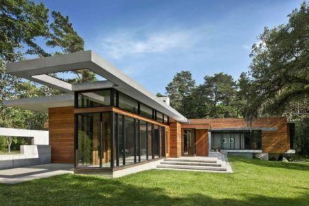 façade jardin - Bray's Island SC Modern II par SBCH Architects - Sheldon, Usa